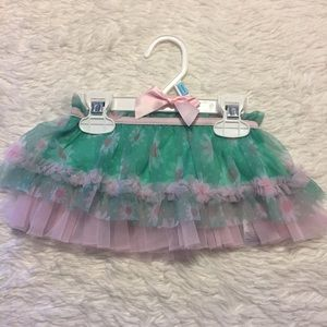 Spring Flowered Tutu Skirt